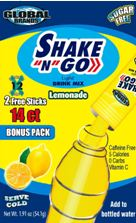 Shake N Go Drink Mix- Lemonade 14ct BONUS